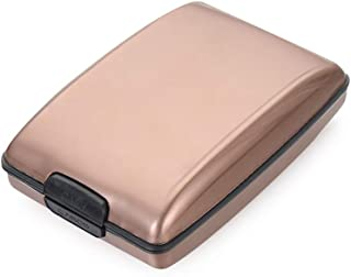 Business Metal Credit Card Holder Anti-Theft RFID Wallet Card Case Coin Purse Money Clip(Coffee)