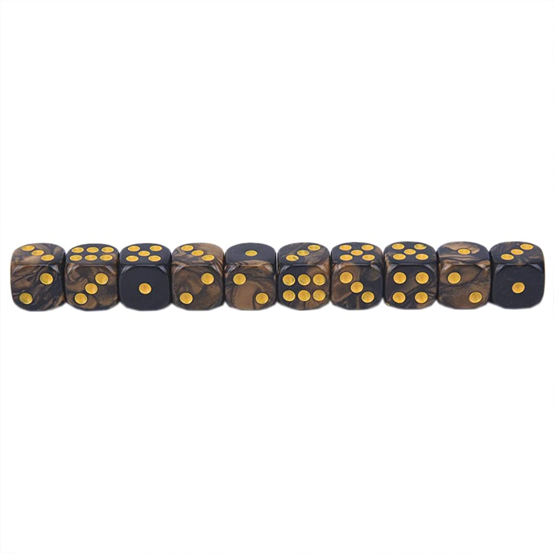10 Pcs 6 Side 12mm Acrylic Cube Round Corner Table Playing Games Drinking Dice