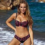 Walker Valentin Bikini Bikinis Set 2021 Micro Push Up Bikini Swimwear Mujeres Tallas Grandes Tamaño Traje de baño Imprimir Ropa de Playa Traje de baño Biquini XL Black, Size : XL
