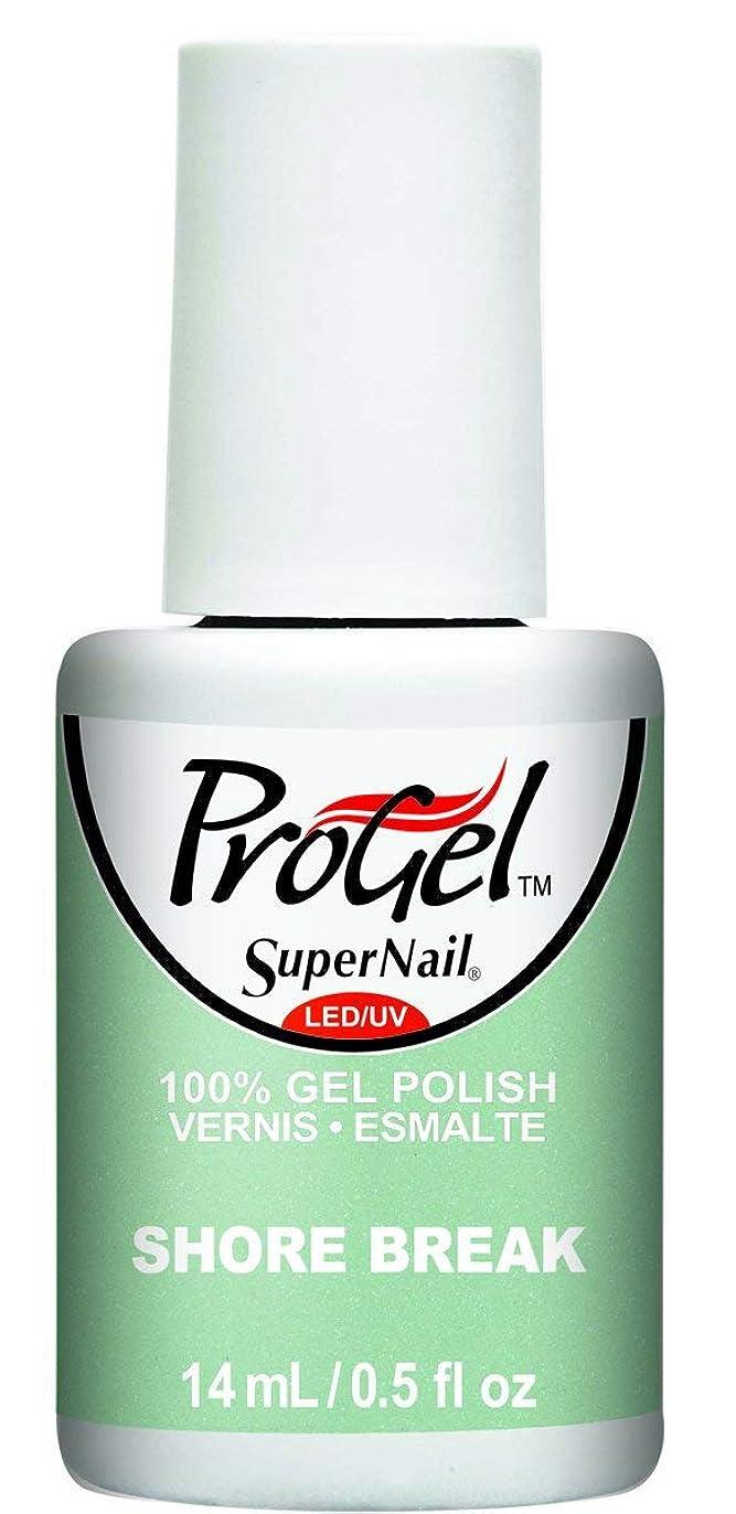 早く歴史家ムスSuperNail ProGel Gel Polish - Shore Break - 0.5oz / 14ml