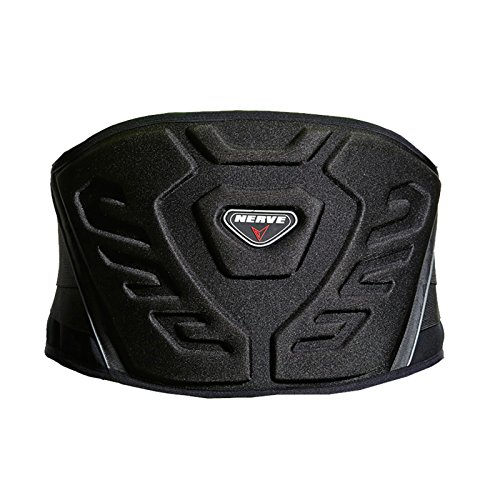 Nierengurt Motorrad Solid Verstärkt Gefüttert Fleece Flexibel Stretch Klettverschluss Sport Stütze Schutz - schwarz - S-80cm
