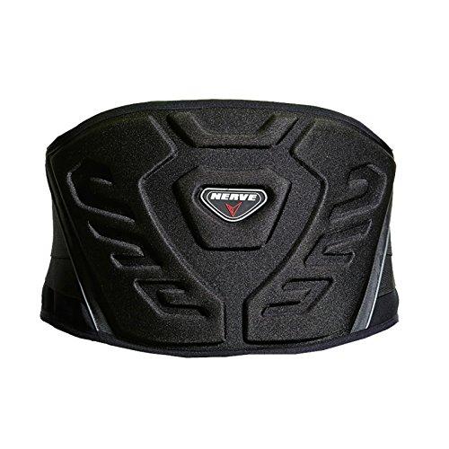Nierengurt Motorrad Solid Verstärkt Gefüttert Fleece Flexibel Stretch Klettverschluss Sport Stütze Schutz - schwarz - XXL-140cm