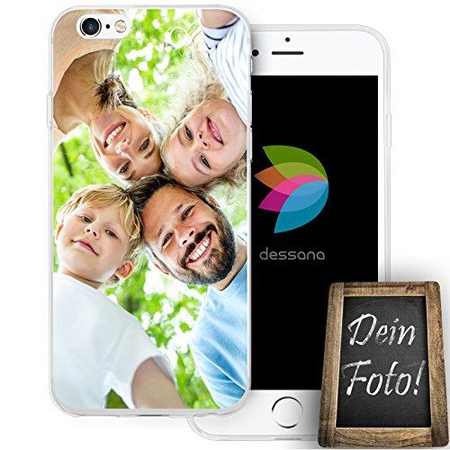 dessana postzegels transparante beschermhoes mobiele telefoon case cover tas voor Apple, Apple iPhone 6/6S, Eigen motief