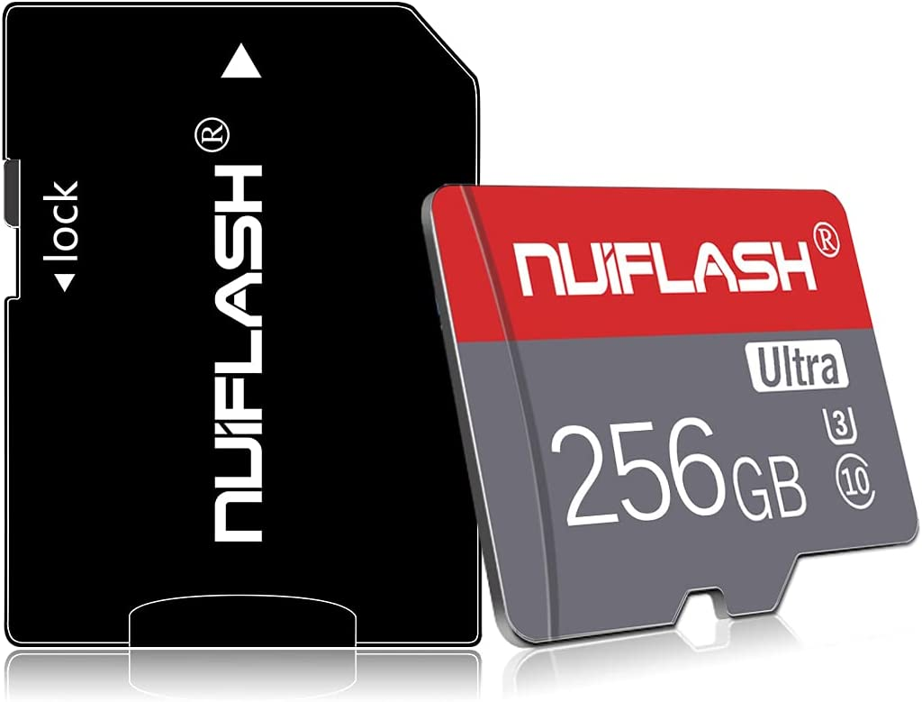 Micro SD Card 256GB Micro Memory Card 256GB TF Card Class 10 High Speed Memory Card with A Free SD Card Adapter for Camera, Phone, Computer,Tablet, Drone, Dash Came, Surveillance, Tachograph
