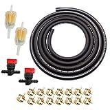 9.85-Foot 5/16 Inch ID Fuel Line Set+ 15 Pcs 2/5