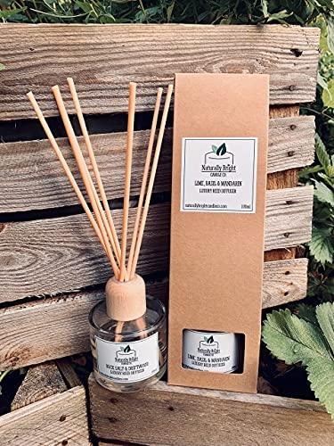Difusor de varillas de lujo de 100 ml, muy perfumado, fragancia de larga duración, aroma increíble, vegano, sin parabenos ni crueldad (salón de cijares)