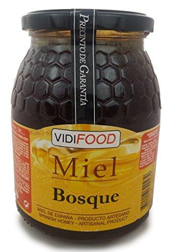 Wald Roher Honig - 1kg - In Spanien gesammelt - Feinste Qualität, Hausgemacht & 100% rein - Intensives Aroma und reicher, süßer Geschmack - Große Vielfalt an leckeren Geschmäckern