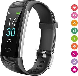 Pulsera Inteligente, Reloj Deportivo, Podómetro, Impermeable IP68, Bluetooth, IOS y Android, Notificación de Mensaje, para hombre y mujer, Monitor Inteligente con Pantalla Táctil de Frecuencia Cardíaca, Presión Sanguínea, Consumo de Caloría, Sueño