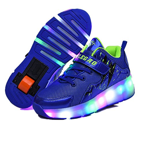 Jedi fight back Children Pulley Shoes with Wheels LED Adult Light Shoes Fashion Walking Shoes