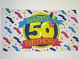 AZ FLAG Flagge Alles Gute ZUM Geburtstag 50 Jahre 150x90cm - Happy 50TH Birthday Fahne 90 x 150 cm - flaggen Top Qualität