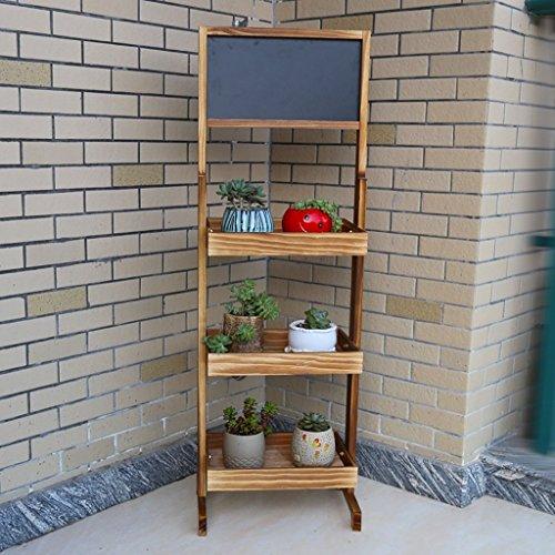 LYHY Blumenregal Pflanzenständer XF Kleines Tafelregal Klappbares Bambusregal Vertikales Leiterregal Outdoor Indoor