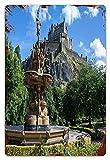 MIFSOIAVV Carteles de Metal Castillo de Edimburgo Edimburgo Escocia Placa de la Pared Póster Idea de Regalo para Garage,Taller,Casa o Bar,Diseño Vintage Decorativo 20x30cm
