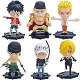 SZSOZD 6 unids/Set One Piece Luffy Trafalgar Law Sanji Zoro Anime Figuras de Acción de Colección PVC...