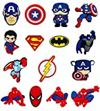 Super Hero Shoe Charms for Crocs Avengers Croc Charms for Kids Teens Boys Girls and Adults Men Women, No Duplicate Cool Jibits Shoe Decoration Charms, Perfect Gift Idea for Party Favors