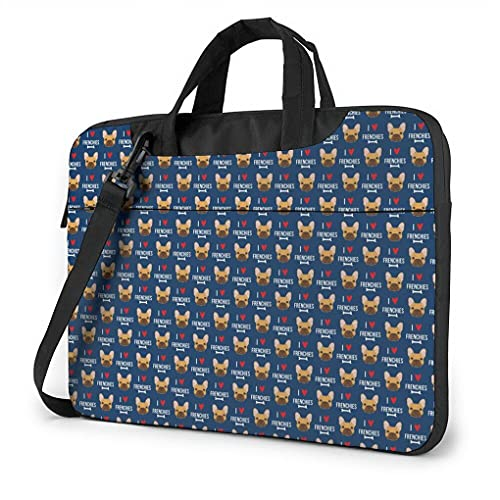 Frenchie Laptop Messenger Bag Carrying Case For Tablet Notebook 13-15.6 Inch