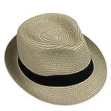 Skyeye Muchachos y Muchachas de la Moda con el Sombrero del Jazz Yiajan el Sombrero Fresco Casual de la Playa de las Compras