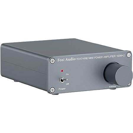 TDA7498E - Amplificador de audio estéreo de 2 canales Mini Hi-Fi clase D amplificador integrado para altavoces domésticos 160 W x 2 + fuente de alimentación de 24 V