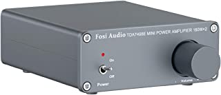 Fosi Audio - TDA7498E 2 Channel Stereo Audio Amplifier Receiver Mini Hi-Fi Class D Integrated Amp for Home Speakers 160W x...
