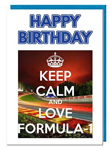 Formule 1 Verjaardagskaart met thema - Papa - Echtgenoot - Broer - Zoon - Opa - Vriendje