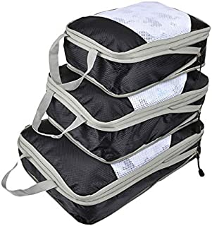Generic Nylon Large Waterproof Mesh Travel Bag Organize Compression Packing Cube Travel Luggage Organizer: 3, Russian Federation