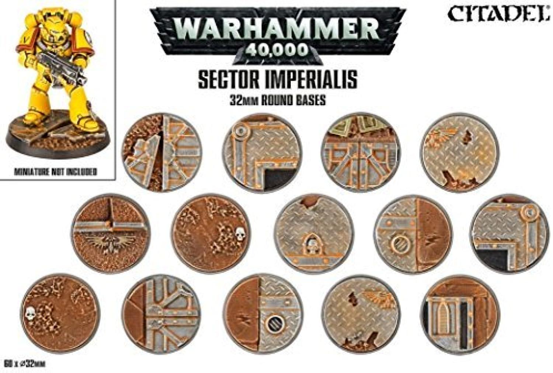 oferta especial Sector Imperialis 32mm Round Bases by Citadel Scenery Scenery Scenery & Terrain  con 60% de descuento