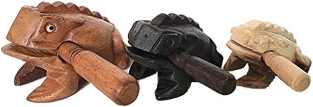 قورباغه چوبی 3 قطعه ای از قورباغه بره 4 اینچ، قورباغه 3 اینچ سیاه، قورباغه چوب طبیعی 2 اینچ، محصولات از تایلند، ابزار موسیقی قورباغه چوبی.