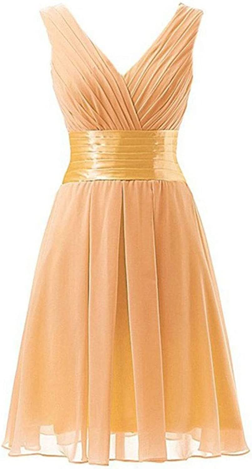 Sububblepper VNeck Sleeveless Bodycon Short Dress Cocktail Maxi Evening Dress Formal Occassion (color   color, Size   US4)