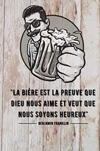Carnet de notes Bière: Carnet de notes pour les amoureux de la bière | 100 pages lignés à remplir | format : 15,4 x 22,9 cm | papier crème.