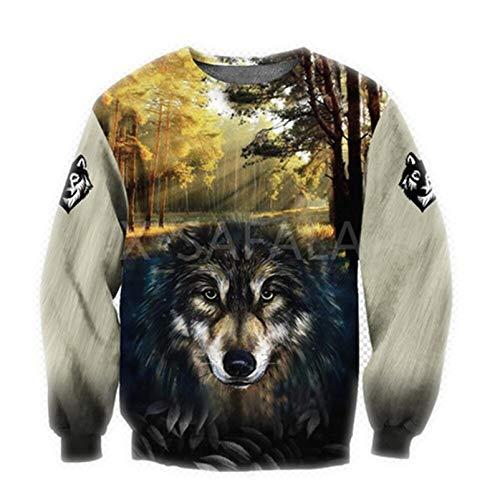 Micdime Wald Wolf Tier 3D Print Hoodie Mann Frauen Harajuku Outwear Zipper Pullover Sweatshirt Casual Unisex Jacke 3D Sweatshirt XXXL