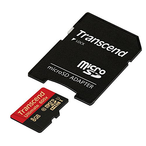 Transcend Ultimate microSDHC 8GB Class 10 UHS-I (Lesen: 90MB/s, Schreiben: 25MB/s)