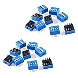 Dahszhi DIP Switch Assorted Double Row 8 Pin 4 Positions 2.54mm Pitch - 20pcs