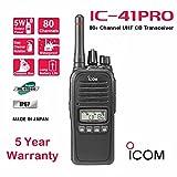 Icom IC-41Pro Waterproof IP68 80 Channel Handheld UHF CB Two Way Portable Radio