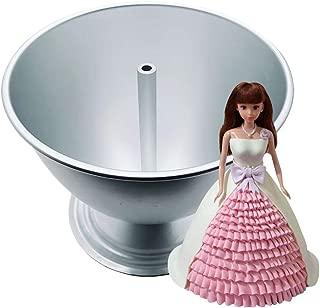 MAMaiuh Mold Doll Princess Cake Decoration Aluminum Cake Baking Tray Baking DIY Baking Equipment (Sliver)