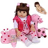CHAREX Belly Reborn Baby Dolls Silicone Full Body, 18 Inches Lifelike Baby Dolls Girls, Soft Vinyl Weighted Doll for Age 3+