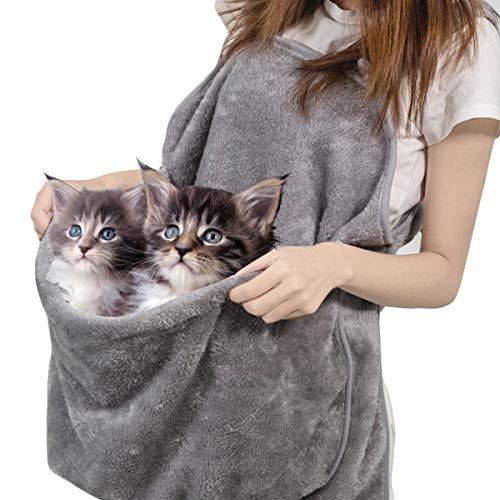 Grembiule Gatto Marsupio Marsupio Gattino Grembiule Corallo Sacco a Pelo in Pile per Gatti di Piccola Taglia