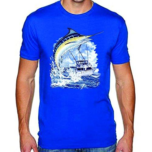HOTHK Marlin W/Boat Men's Tee Custom T-Shirt DIY T Shirt