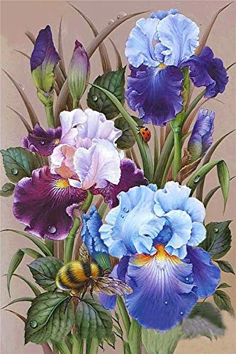 Puzzle 500 Teile, Puzzle für Erwachsene, Puzzle farbenfrohes Legespiel , Geschicklichkeitsspiel für die ganze Familie, Orchideenblütenbuschblumenbiene Puzzle, Erwachsenenpuzzle ab 12 Jahren 52x38cm