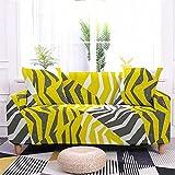 Meiju 3D Fundas de Sofá Elasticas de 1 2 3 4 Plazas, Leopardo Ajustables Cubierta de Sofá Cubre Sofa Antideslizante Funda Cubre Sofas Furniture Protector (Geometría Gris,3 plazas - 190-230cm)