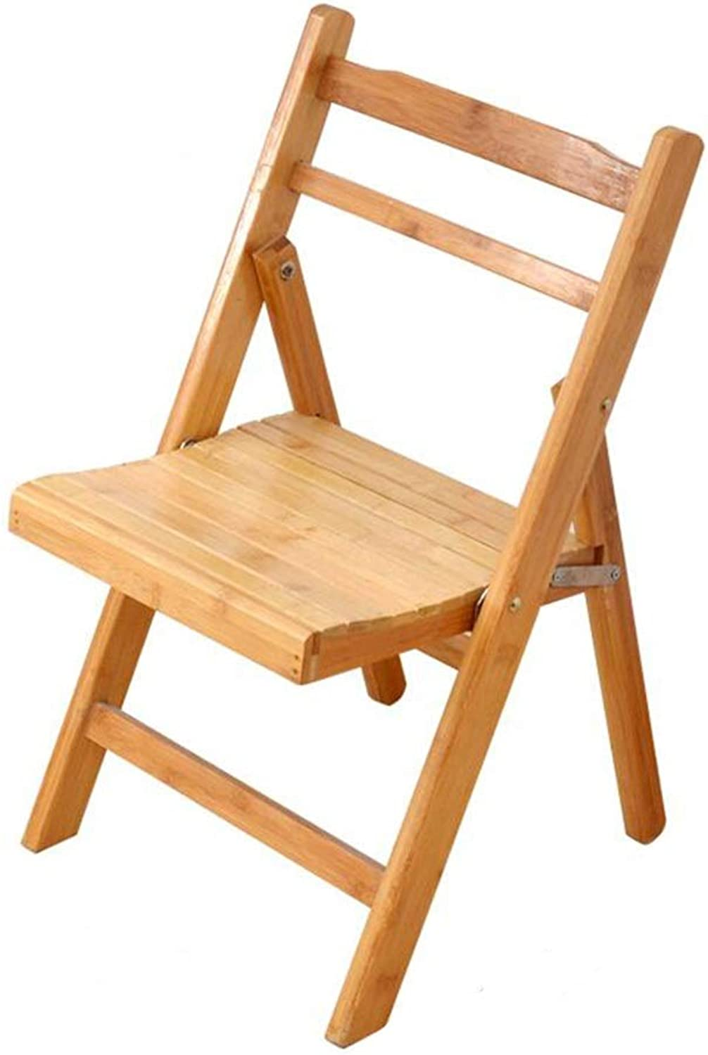Dall Foldable Backrest Chair Bamboo Dining Chair Simple Portable Leisure Chair Saving Space 2 Sizes (color   56CM)