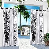 Aishare Store - Cortinas de porche para exteriores, impermeable, diseño de animales y fauna silvestre, 132 x 274 cm, cortinas opacas al aire libre para terraza/balcón (1 panel)