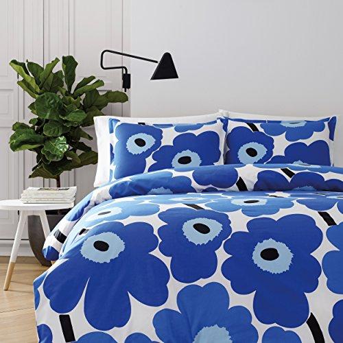 Unikko Comforter Set Blue, Twin - Marimekko 221457