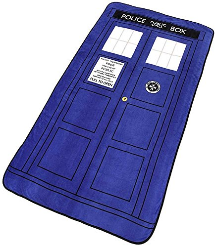 Underground Toys Doctor Dr Who Tardis Throw Blanket