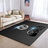 Bljanglai Área del Controlador del Juego Alfombra Dormitorio Cocina Alfombra Alfombra De Puerta Pasillo Alfombra De Baño Impresión 3D Franela Alfombra Súper Suave 100X150Cm K3571