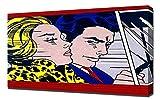 Roy Lichtenstein In The Car - Pop Art Leinwandbild - Kunstdrucke - Gemälde Wandbilder