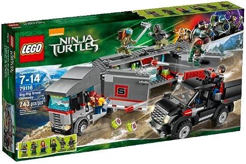caliente LEGO Teenage Mutant Ninja Turtles Big Big Big Rig Snow Getaway [743 pcs - 79116]  garantía de crédito