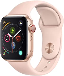 Apple Watch Series 4 (GPS + Cellular) con caja de 40 mm de aluminio en oro y correa deportiva rosa arena