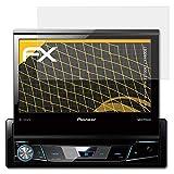 atFoliX Película Protectora Compatible con Pioneer AVH-X7700BT / X7800BT Lámina Protectora de Pantalla, antirreflejos y amortiguadores FX Protector Película (2X)