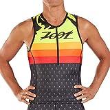 Zoot Triatlón Masculino Sport Tank Style Ali'I con Tres Bolsillos Traseros, LSF 50+ y Costuras SeamLink Tamaño L