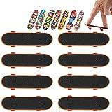 Mini Fingerboard, 6PCS Finger Skateboard Mini Finger Skate Tableros de Dedos Skatepark para Niños Juguete Regalo de Cumpleaños Favores de Fiesta (Patrón Al Azar)
