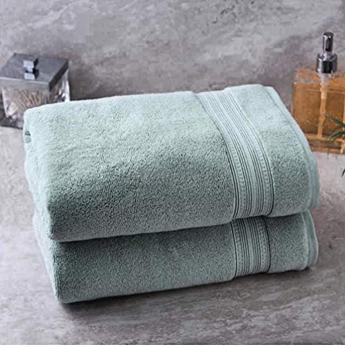 2 Charisma Soft 100% Hygro Cotton Bath Towel (30' W x 58' L) by Meta Funky (Light Green)